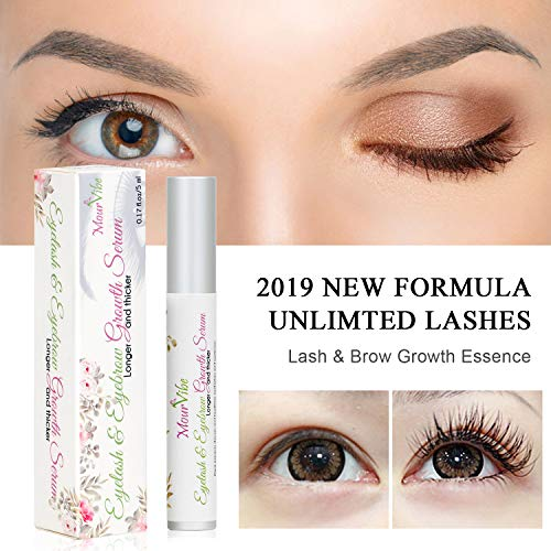Eyebrow & Eyelash Growth Serum | Advanced Eyelash Conditioner Boost Lash Grow Enhancer | POWERFUL Brow & Lash Enhancing Formula for Beautiful, Longer, Thicker Eyelashes and Eyebrows