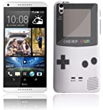 """HTC Desire 816 (2014 Modell) Hülle Hardcase (Harte Rückseite) Case Cover - """"Retro Gameboy"""" Muster Schutzhülle für HTC Desire 816 Weiß"""