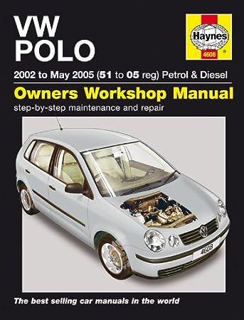 volkswagen polo repair manual haynes manual service manual workshop rh amazon co uk vw polo 2007 manual pdf vw polo 2004 manual
