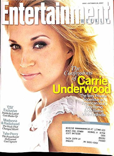 Entertainment Weekly Magazine-October 26,2007[The Confessions Of Carrie Underwood]