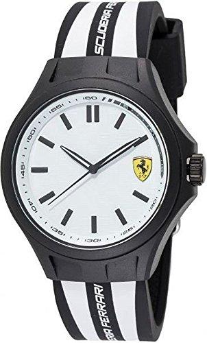Ferrari Men's 0830287 Pit Crew Analog Display Japanese Quartz Black Watch