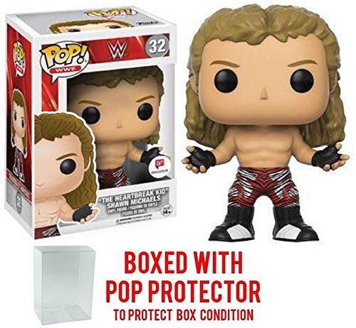Funko Pop! WWE ''The Heartbreak Kid'' Shawn Michaels Exclusive Vinyl Figure (Bundled with Pop BOX PROTECTOR CASE) by Funko