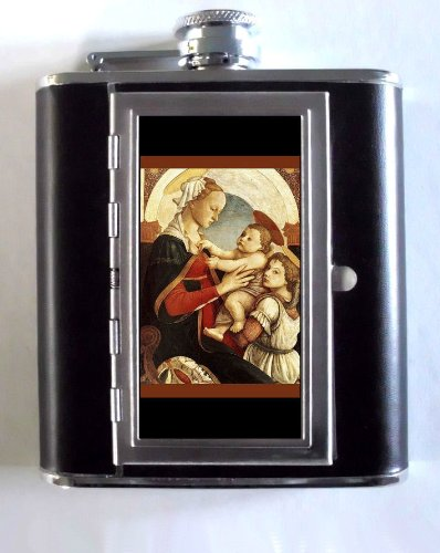 Botticelli Madonna And Child 5oz Flask Cigarette Case ID - Madonna Botticelli