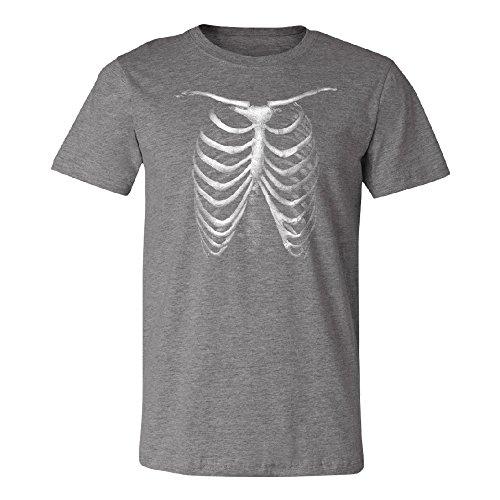 Zexpa Apparel Rib Cage Skeleton Men's T-shirt Funny Halloween 2017 Costume Tee Deep Heather -