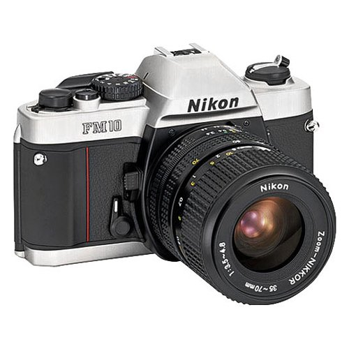 Nikon FM-10 SLR Camera with 35-70mm f/3.5-4.8 Zoom Lens (Nikon Fm Film Camera)