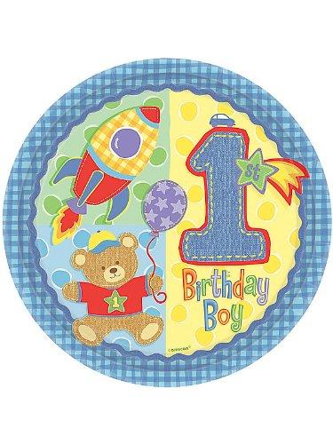 Amscan - Platos para cumpleaños de niño (1 año): Amazon.es ...