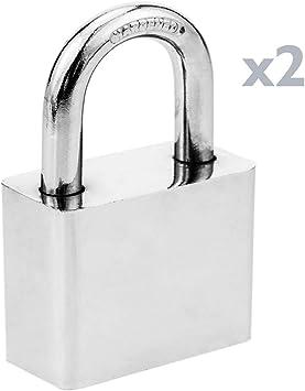 PrimeMatik - Candado de Seguridad Acero 50mm 2-Pack: Amazon.es: Electrónica