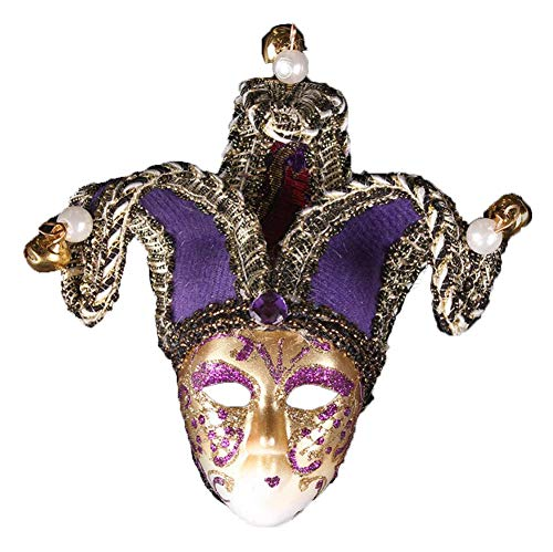 TQZY Men's Masquerade Mask Vintage Cracked Venetian Halloween Mardi Gras Party Mask,4 -