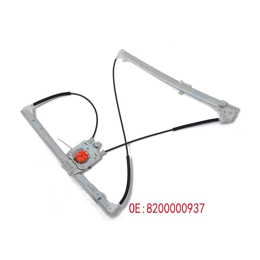 Censhaorme Reemplazo 8200000938 Frontal del Lado Izquierdo de la Ventana el/éctrica Regulador para Renault Laguna II 01-07 MK2