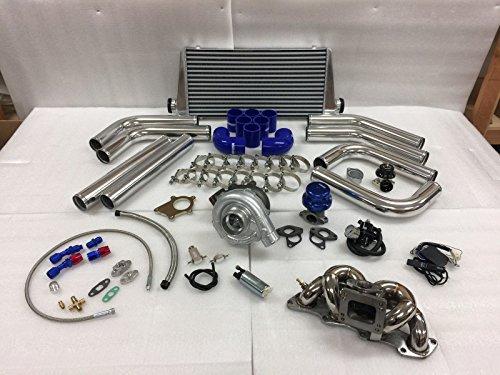 89-98 240SX S13 S14 KA24DE 2.4 T3T4 .63 Turbo Kit Stainless Steel Manifold - Turbo Manifold 240sx