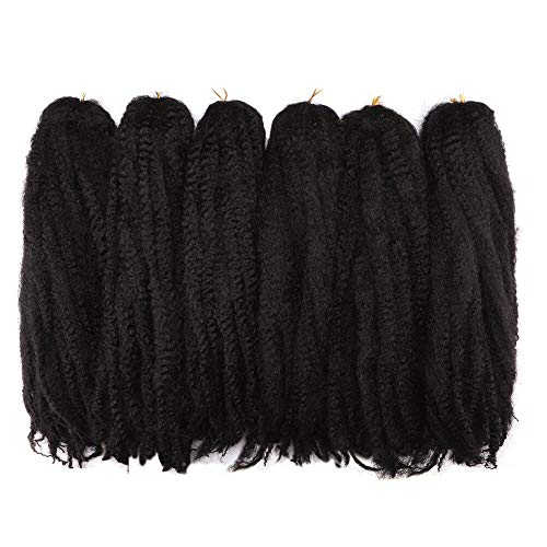 Toyo Tress Marley Hair For Twists 18 Inch 6packs Long Afro Marley Braid Hair Synthetic Fiber Marley Braiding Hair Extensions(18,#2)