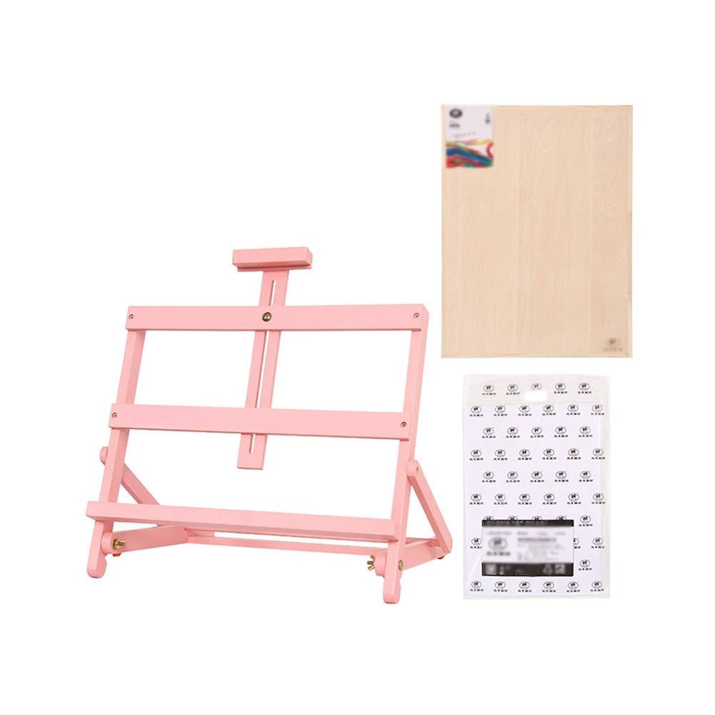 YY 4 Kスケッチパッドと4 Kスケッチ紙、調整可能な図面展ラック - 卓上木製イーゼル   B07RC2V59G