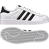 adidas Originals Men's Superstar  White/Black/White 10