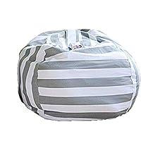 eDesigner Bean Bag Chairs for Kids, Stuffed Animal Bag Chair, Stuffed Animal Bag Chair, Extra Large Storage Bean Bag…