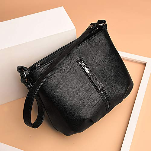 Bags Glqym Leather Handbags Fashion Soft aged Ladies Bags Middle Shoulder Women's 1a6AFq1
