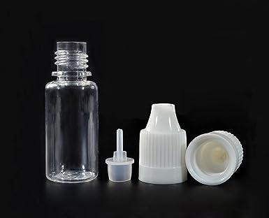 Botellas de plástico transparente recargables de 10 ml vacías para desechar los ojos, líquidos y