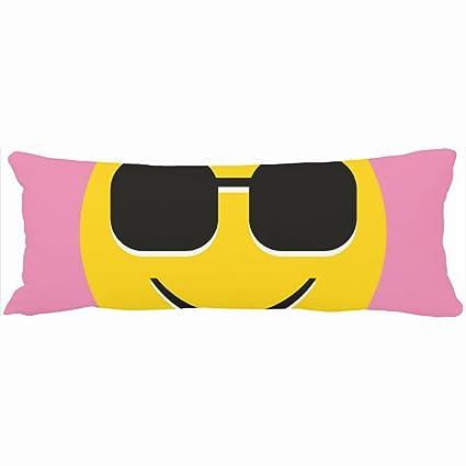 Decorativo almohadas Cool gafas de sol Guy único emoji ...