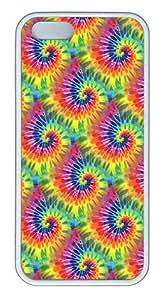 IMARTCASE iPhone 5S Case, Rainbow Tie Dye Seamless Case for Apple iPhone 5S/5 TPU - White