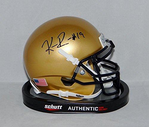 Keenan Reynolds Autographed Navy Midshipmen Gold Mini Helmet- JSA Witnessed Auth