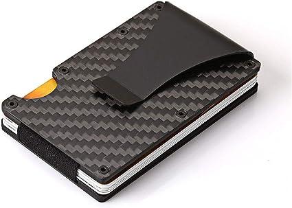 Beesclover Caja de acero inoxidable de aleación de aluminio RFID para guardar tarjetas de crédito: Amazon.es: Oficina y papelería