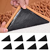 DxJ 8 Pcs Rug Grippers - Anti Curling Rug Gripper,Rubber Non Slip Carpet Gripper Keeps Your Rug in Place Makes Corners Flat,Ideal Anti Slip Rug Pad Your Rugs