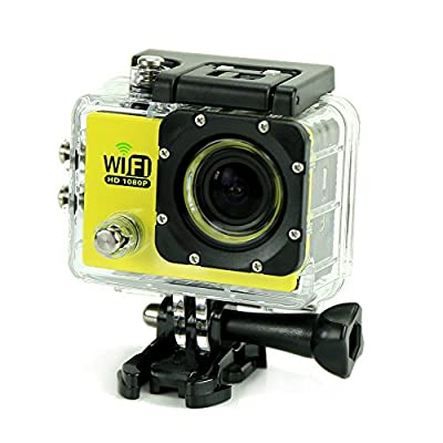 Uniquer Sport DV SJ6000 WiFi 12MP 170 Degree 1080P Digital Waterproof Helmet Sports Action Car Camera Yellow