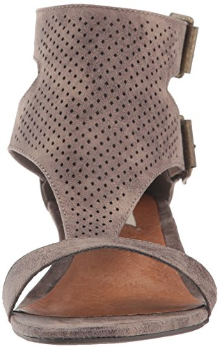 Wedge Buckle T bar Open Perf Sandal Taupe Womens' Toe Demi Sugar Wigout S8wqZxta