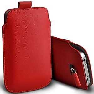 Fone-Case Blackberry 9720 Protective PU Leather Slip cuerda del tirón en la bolsa de la liberación rápida (rojo)
