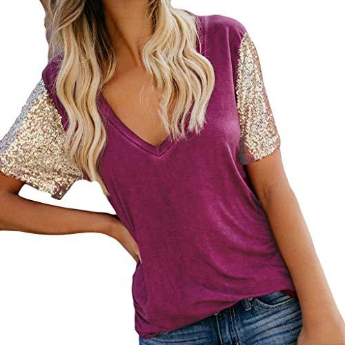 Lonshell Schwangerschaft Damen Umstandsshirt Still Kurzarm T-Shirt Sommer V-Ausschnitt Oberteile Mutterschafts Umstandsmode Unterhemd Bluse Tops