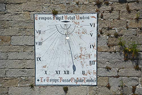 Home Comforts Peel-n-Stick Poster of Solar Time Shadow Sundial Dial Crafts Sun Wall Vivid Imagery Poster 24 x 16 Adhesive Sticker Poster - Solar Sundial