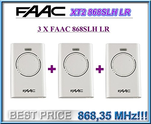 Price comparison product image 3 X FAAC XT2 868 SLH LR white. Gate remote control keyfob transmitter, 868Mhz rolling code keyfob!!! 3 remotes for a bargain price!!!