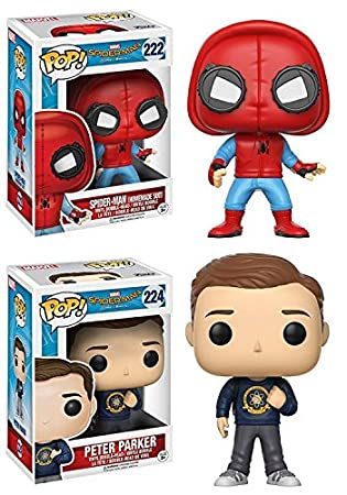 Funko Pop Spider Man Homecoming Spider Man Homemade Suit Peter
