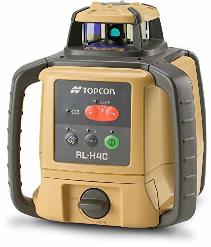 Topcon RL-H4C Horizontal Self-Leveling Rotary Laser with LS-80LR Receiver - Dry Cell Battery Package
