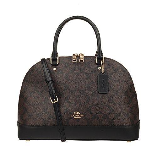 Coach Womens Large Size PVC Hand Shoulder Bag F27584 (Dark Brown)