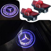 For Mercedes Benz C Class, JKCOVER Car Door LED Welcome Projector Blue Circle Logo Ghost Shadow Door Light - 2pcs