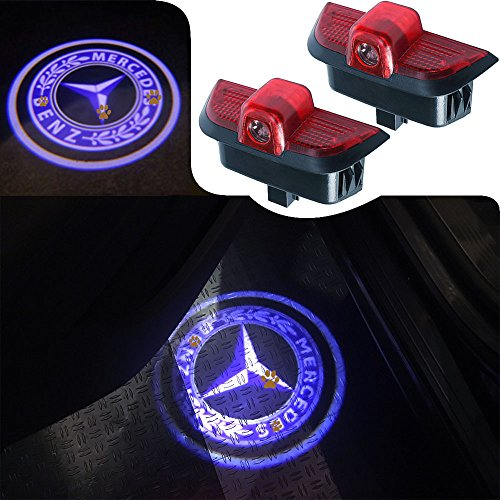Mercedes C-class Projector (For Mercedes Benz C Class, JKCOVER Car Door LED Welcome Projector Blue Circle Logo Ghost Shadow Door Light - 2pcs)