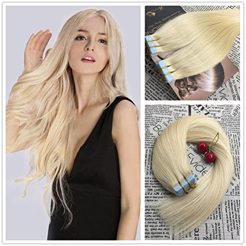 Hair extensions moresoo 24 inch 50g20pcs 100 straight unprocessed remy virgin human hair bleach blonde pmusecretfo Image collections