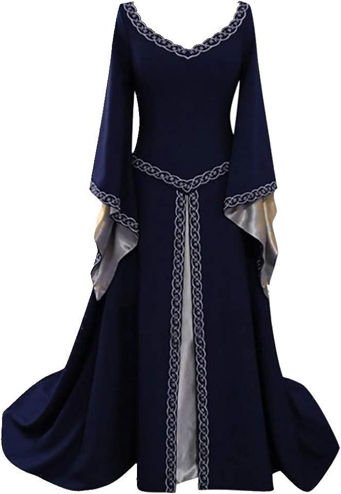 Vestido Medieval Mujer Talla Grande, EUZeo, Vestido Largo de Noche ...