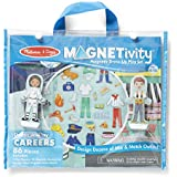 Melissa & Doug Magnetivity Magnetic Dress-Up Play Set – Dress & Play Careers (86 Pieces, 2 Play Figures, Great Gift for Girls and Boys - Best for 4, 5, 6, 7, 8 Year Olds and Up)
