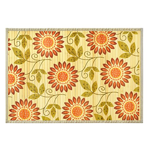Bamboo Rug Runner: Natural Bamboo Floor Mat Anti-Skid Back Beautiful Bamboo
