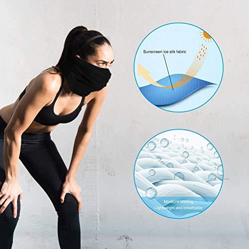 2Pcs Sun UV Protection Neck Gaiter Mask,Magic Face Scarf,Dust Bandana Balaclava