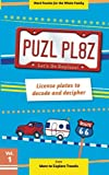 img - for PUZL PL8Z License plates to decode and decipher (Volume 1) book / textbook / text book
