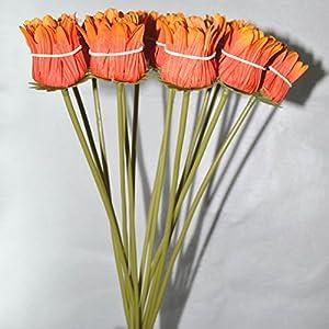 FatColo(R) 10 pcs Silk Artificial Fake Plastic Daisy Chrysanthemum Flowers Sun Chrysanthemum,Sunflower, Simulation Gerber, Dimorphotheca,Party Room Home Decoration DIY Flower Bouquet 4