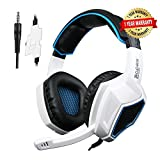 SADES SA-920 Universal PS4 Gaming Headset with Mic and Volume Control (White)