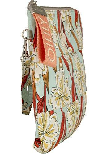 x H T B Clutch Ornament Light Oilily Turquoise Turquoise Sacs femme Ruffles 1x20x30 Lhz menotte cm Tqn1HOa4x