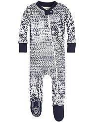 Burt's Bees Baby - Baby Boys' Sleeper Pajamas, Zip Front Non-Slip Footed Sleeper PJs, 100% Organic Cotton