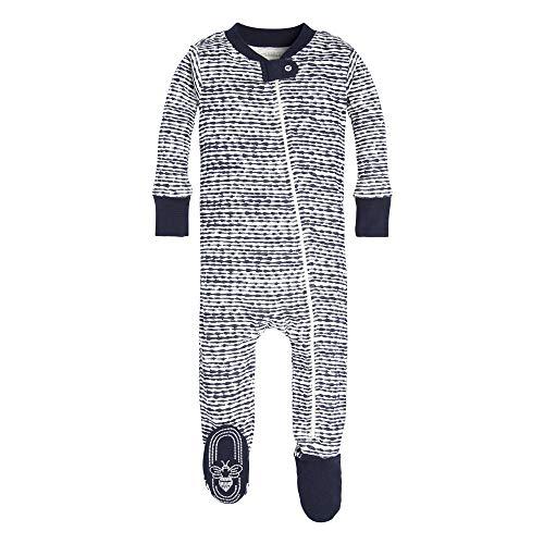 Burt's Bees Baby Boys Pajamas, Zip Front Non-Slip