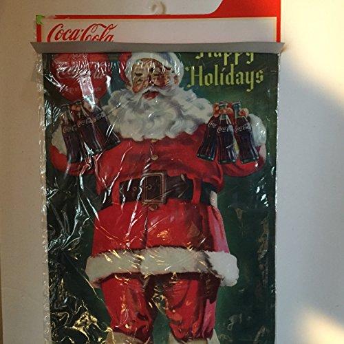 (Coca Cola Santa Claus Decorative Flag Garden Size)