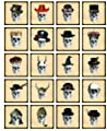 Scary Skull Gentleman - 72368 - Ceramic Decal - Enamel Decal - Glass Decal - Waterslide Decal - 3 Different Size Sheet (Images) to Choose from. Choose Either Ceramic (Enamel) or Glass Fusing Decals