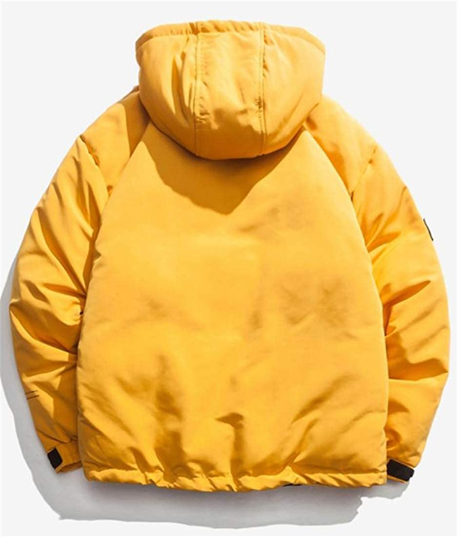 Pandapang Mens Winter Hooded Packable Plus Size Thick Parka Coat Down Jacket
